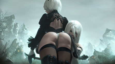 2much Booty | Nier Automata by Urbanator