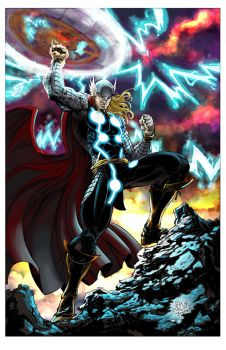 Thor by V K Marion inks by devgear by johnercek