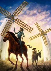 Don quijote and Sancho Panza by FGalve