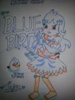 Angry Girls/Angry Birds: Blue Bird Girl by MeganLovesAngryBirds