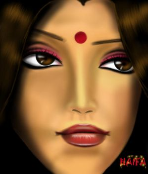 indian woman by log986