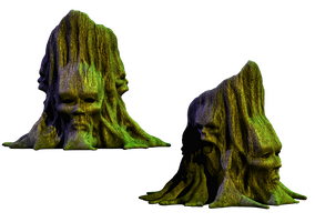 Spooky Tree 02 PNG Stock by Roy3D
