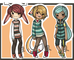 Striped adopts Auction [ closed ] by Inari-Chan-Adopts