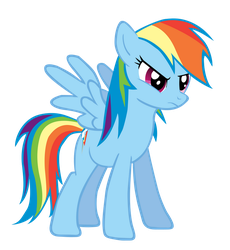 My Little Vector- Rainbow Dash by Rudahn