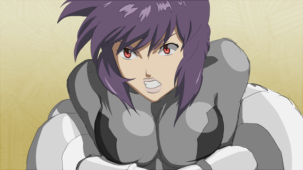 Motoko vs Armsuit (front view) variant A by Telikor