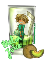 CR Collab : melon juice by godangdang