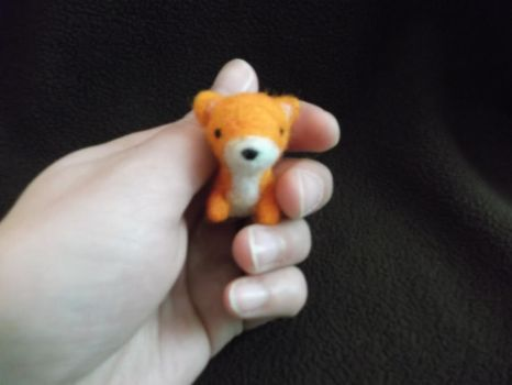 Baby fox, needle felted by imaginaryfriends2012