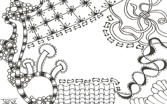 Zentangle Frame by smileyface001