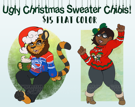 Ugly Christmas Sweater: $15 each by RottingRoot