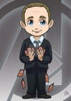 Chibi Avengers - Agent Coulson by MymyArtzone