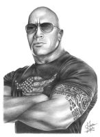 The Rock Pencil Drawing by Chirantha