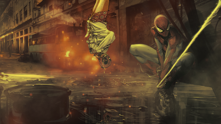 Spiderman Vs Deadpool by Aste17