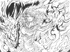 60 minutes exercise: Flame of despair by RindouShinichi
