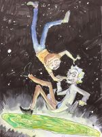 Rick And Morty by Sildesalaten