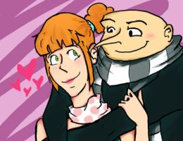 Lucy and Gru - Despicable me 2 by roXan101