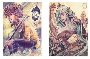 Commission - ACEO #8 and #9 by anja-uhren