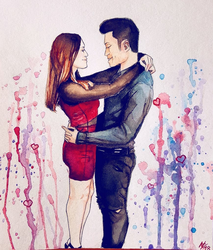 Water Color - Annabelle and Cong by thalle-my-honey