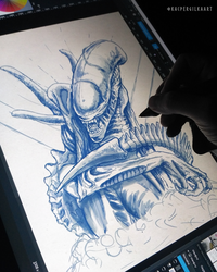 Alien Xenomorph wip by KGArtDesign