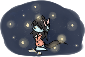 Playing with stars by Ennyh