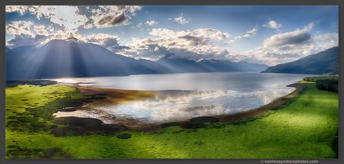 Kootenay Lake Panorama by kootenayphotos