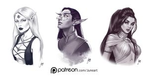 Patreon sketches by JuneJenssen
