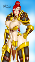Commission - holy paladin pinup by RefugeInSilence