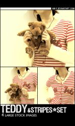 Stock - Teddy And Stripes Set by am-y