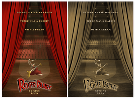 Who Discovered Roger Rabbit - Fan Poster by P2Pproductions