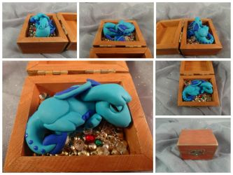 Dragon Hatchling in Treasure Chest by Devaly