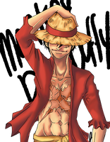 My name is Monkey D. Luffy by Awskitee