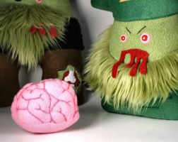 Un-Dead Zombie Leprechaun Plushie Friend by Saint-Angel