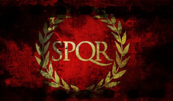 Flag Of The Roman Empire (Grunge) by flagArtist