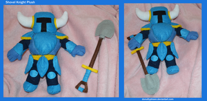 Shovel Knight Plush by DonutTyphoon