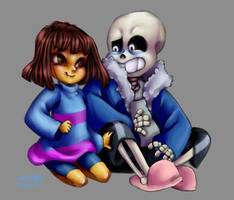 Undertale :Frisk and Sans: by TheFreakyPanda