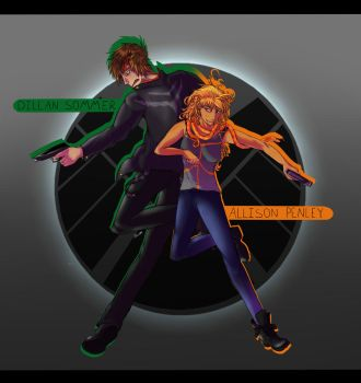 SHIELD Agents Penley and Sommer by DerangedArtsyPerson