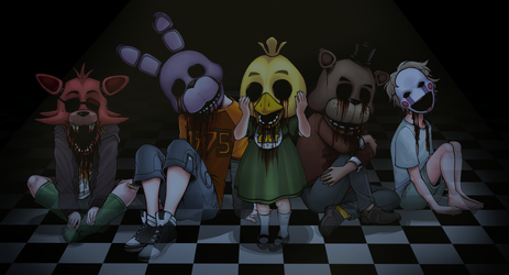 [FNAF]: Five Innocent Souls by BleedingHeartworks