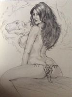 Cavewoman WIP by DW Miller by ConceptsByMiller