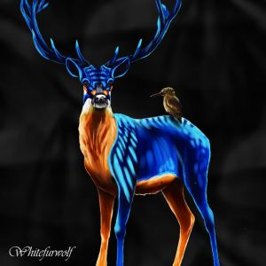 King fisher deer by Whitefurwolf
