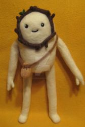My Needle Felted Snow Golem -- Thank You by CatsFeltLings