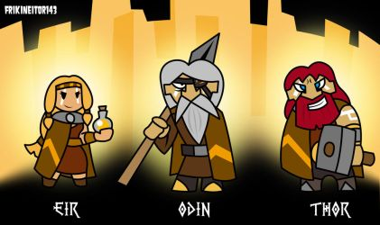 Heroes from Asgard by frikineitor143
