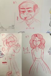 Red hotel pen doodles by mapletoffee