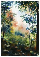 Autumn View by SALTWatercolors