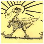 Dyno the Mighty Cretaceous    100days 99 by OcioProduction