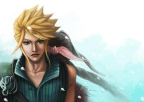 Cloud and Aeris by sniftpiglet