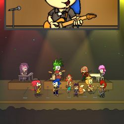 Sonic as the E Street Band by RyanWolfSEAL
