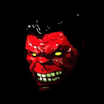 Red Hulk by callmetrouble