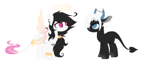- Angel and Demon mares - [CLOSED] by XDragonxRebelX