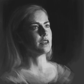 Portrait value study by Feleri