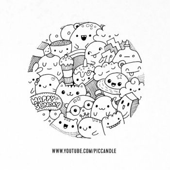 Happy Sunday! ~ Doodle [Video] by PicCandle