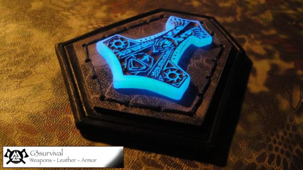 G3 velcro backed leather Mjolnir Patch GITD by G3survival